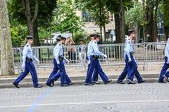 Στρατιωτική παρέλαση της εθνικής χωροφυλακής (Defile) κατά τη διάρκεια του εθιμοτυπικού της γαλλικής εθνικής μέρας, Cham Στοκ Φωτογραφία