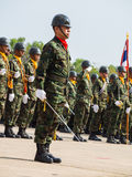Στρατιωτική παρέλαση του βασιλικού ταϊλανδικού ναυτικού Στοκ Φωτογραφίες