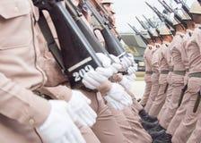 Στρατιωτική παρέλαση του βασιλικού ταϊλανδικού ναυτικού Στοκ Φωτογραφία