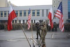 Στρατιωτική συγκέντρωση Στοκ Φωτογραφία