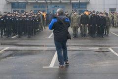 Στρατιωτική συγκέντρωση Στοκ Εικόνες