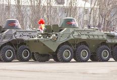 Στρατιωτική τεχνολογία στην παρέλαση Στοκ Φωτογραφία