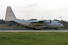 Στρατιωτική turboprop φορτίου επένδυση για την απογείωση Στοκ Εικόνες
