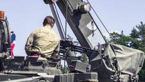 Στρατιωτικοί εξοπλισμός και στρατιώτες του ΝΑΤΟ στοκ φωτογραφία με δικαίωμα ελεύθερης χρήσης