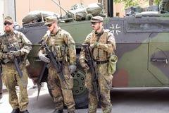 Στρατιωτικοί εξοπλισμός και στρατιώτες στο γύρο ΙΙ Dragoon Στοκ φωτογραφίες με δικαίωμα ελεύθερης χρήσης