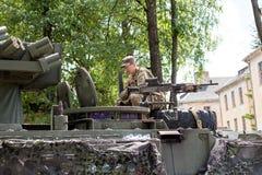 Στρατιωτικοί εξοπλισμός και στρατιώτες στο γύρο ΙΙ Dragoon Στοκ Εικόνες