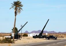 Στρατιωτικοί λόγοι παρουσιάσεων αποδείξεων, τοπίο της Αριζόνα κομητειών Yuma Στοκ φωτογραφία με δικαίωμα ελεύθερης χρήσης