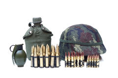 Στρατιωτικός εξοπλισμός για το στρατιώτη στοκ φωτογραφίες