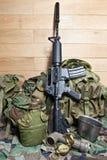 Στρατιωτικός εξοπλισμός στοκ φωτογραφία με δικαίωμα ελεύθερης χρήσης