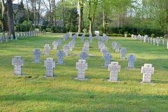 Στρατιωτικός δεύτερος πόλεμος της Γερμανίας νεκροταφείων στοκ εικόνες