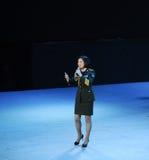 Στρατιωτικός διάσημος τραγουδιστής της Κίνας baixue-theFamous και classicconcert Στοκ εικόνες με δικαίωμα ελεύθερης χρήσης