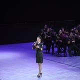 Στρατιωτικός διάσημος τραγουδιστής Liu xiaona-TheFamous και classicconcert Στοκ Εικόνα