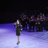 Στρατιωτικός διάσημος τραγουδιστής Liu xiaona-TheFamous και classicconcert Στοκ φωτογραφία με δικαίωμα ελεύθερης χρήσης