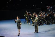 Στρατιωτικός διάσημος τραγουδιστής Liu xiaona-TheFamous και classicconcert Στοκ Εικόνες