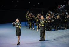 Στρατιωτικός διάσημος τραγουδιστής Liu xiaona-TheFamous και classicconcert Στοκ Φωτογραφία