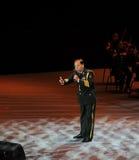 Στρατιωτικός διάσημος τραγουδιστής Xiong qincai-TheFamous και classicconcert Στοκ Εικόνα