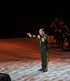 Στρατιωτικός διάσημος τραγουδιστής Xiong qincai-TheFamous και classicconcert Στοκ Φωτογραφία