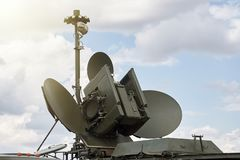 Στρατιωτικός κινητός σύνθετος ραντάρ στοκ φωτογραφία με δικαίωμα ελεύθερης χρήσης