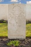 Στρατιωτικός 1$ος μεγάλος παγκόσμιος πόλεμος Φλαμανδική περιοχή Βέλγιο Ευρώπη νεκροταφείων Στοκ φωτογραφία με δικαίωμα ελεύθερης χρήσης