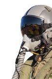 Στρατιωτικός πιλότος πολεμικού αεροσκάφους ομοιόμορφος στοκ εικόνα με δικαίωμα ελεύθερης χρήσης