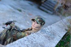 στρατιωτικός προκλητικό&si στοκ φωτογραφία με δικαίωμα ελεύθερης χρήσης