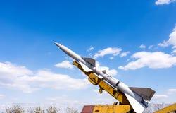 Στρατιωτικός πύραυλος στη στάση στοκ φωτογραφίες με δικαίωμα ελεύθερης χρήσης