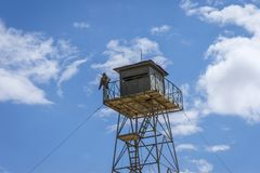 Στρατιωτικός πύργος συνόρων, Κιργιστάν στοκ εικόνα με δικαίωμα ελεύθερης χρήσης