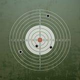 Στρατιωτικός στόχος με τις τρύπες από σφαίρα Στοκ εικόνες με δικαίωμα ελεύθερης χρήσης