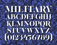 Στρατιωτικός χαρακτήρας διάτρητων Στοκ Εικόνα