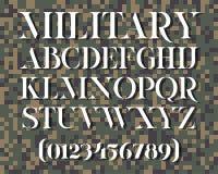 Στρατιωτικός χαρακτήρας διάτρητων Στοκ φωτογραφία με δικαίωμα ελεύθερης χρήσης
