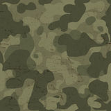 Στρατιωτικό άνευ ραφής σχέδιο κάλυψης διάνυσμα Στοκ Εικόνα