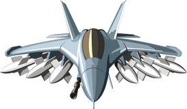 Στρατιωτικό αεριωθούμενο αεροπλάνο αγώνα Στοκ Εικόνες