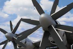 Στρατιωτικό αεροπλάνο βομβαρδιστικών αεροπλάνων Στοκ Εικόνες