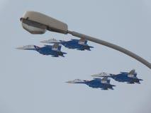 Στρατιωτικό αεροπλάνο SU-27 Στοκ Εικόνα