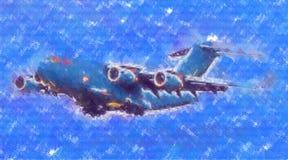 Στρατιωτικό αφηρημένο σχέδιο απεικόνισης σχεδίου τέχνης ταχύτητας αεροπλάνων Στοκ Εικόνες