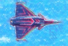 Στρατιωτικό αφηρημένο σχέδιο απεικόνισης σχεδίου τέχνης ταχύτητας αεροπλάνων Στοκ Φωτογραφία