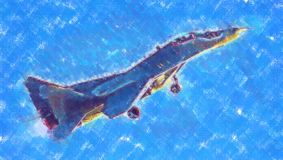 Στρατιωτικό αφηρημένο σχέδιο απεικόνισης σχεδίου τέχνης ταχύτητας αεροπλάνων Στοκ φωτογραφία με δικαίωμα ελεύθερης χρήσης