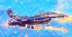Στρατιωτικό αφηρημένο σχέδιο απεικόνισης σχεδίου τέχνης ταχύτητας αεροπλάνων Στοκ Εικόνα