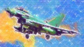 Στρατιωτικό αφηρημένο σχέδιο απεικόνισης σχεδίου τέχνης ταχύτητας αεροπλάνων Στοκ Φωτογραφίες