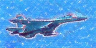 Στρατιωτικό αφηρημένο σχέδιο απεικόνισης σχεδίου τέχνης ταχύτητας αεροπλάνων Στοκ εικόνες με δικαίωμα ελεύθερης χρήσης