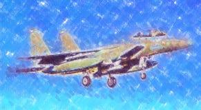 Στρατιωτικό αφηρημένο σχέδιο απεικόνισης σχεδίου τέχνης ταχύτητας αεροπλάνων Στοκ εικόνα με δικαίωμα ελεύθερης χρήσης