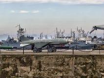 στρατιωτικό διάνυσμα πολεμικών πλοίων απεικόνισης θωρηκτών τέχνης Στοκ Φωτογραφία