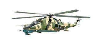 Στρατιωτικό ελικόπτερο με το χρωματισμό κάλυψης Στοκ Φωτογραφίες