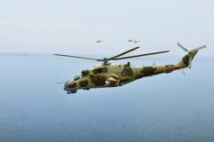 Στρατιωτικό ελικόπτερο Στοκ εικόνα με δικαίωμα ελεύθερης χρήσης