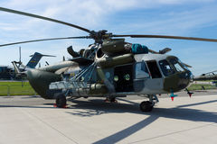 Στρατιωτικό ελικόπτερο Mil mi-171 Hippo μεταφορών Στοκ φωτογραφία με δικαίωμα ελεύθερης χρήσης