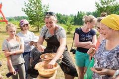 Στρατιωτικό και ιστορικό φεστιβάλ αναδημιουργία Ιππότης Στοκ Εικόνες