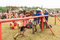 Στρατιωτικό και ιστορικό φεστιβάλ αναδημιουργία Στοκ φωτογραφίες με δικαίωμα ελεύθερης χρήσης