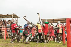 Στρατιωτικό και ιστορικό φεστιβάλ αναδημιουργία Στοκ Εικόνες