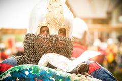 Στρατιωτικό και ιστορικό φεστιβάλ αναδημιουργία Στοκ φωτογραφία με δικαίωμα ελεύθερης χρήσης
