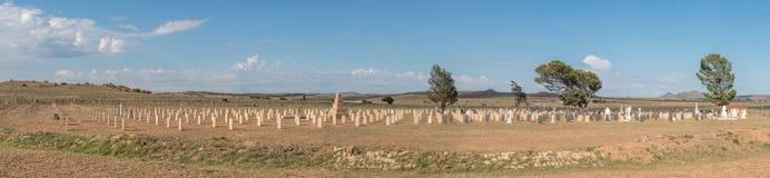 Στρατιωτικό νεκροταφείο σε Springfontein Στοκ Εικόνες